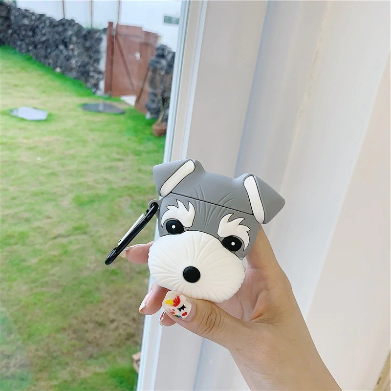 2For Airpods 1 2_cute-dog-schnauzer-earphone-headset-case_variants-1