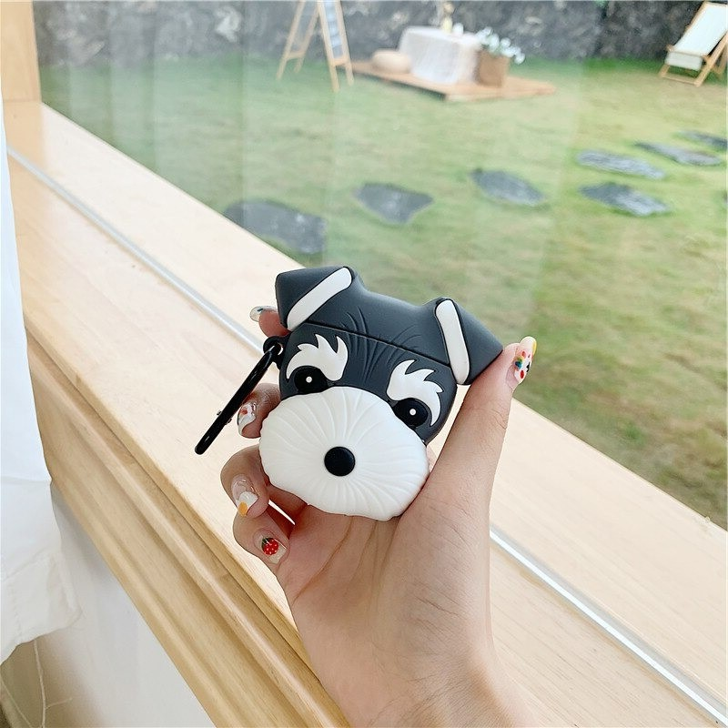 4For Airpods 1 2_cute-dog-schnauzer-earphone-headset-case_variants-3