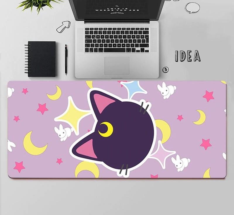Kawaii Sailor Cat Moon & Stars Mouse Pad