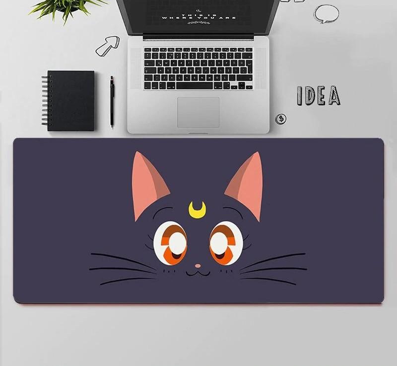 Kawaii Sailor Cat Face Mouse Pad