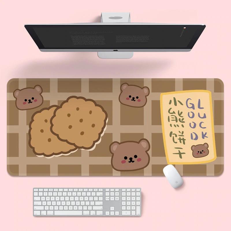 Kawaii Cookie Bear Mouse Pad