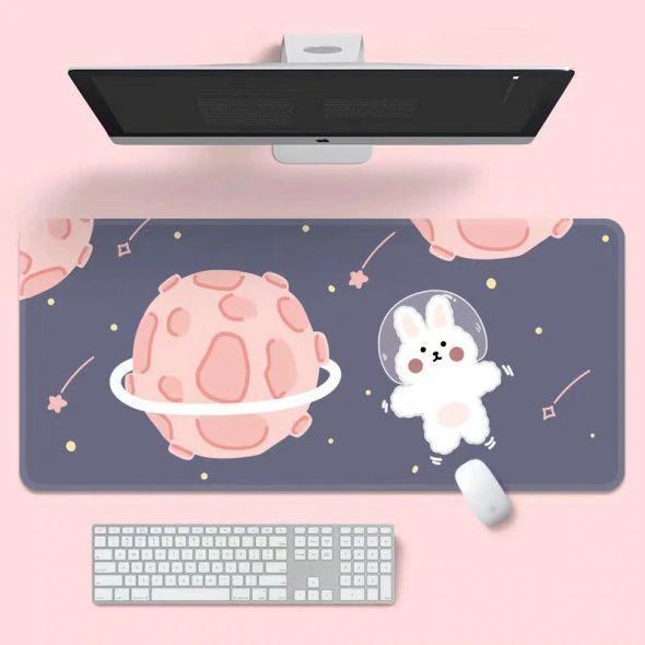 kawaii-space-bunny-mouse-pad