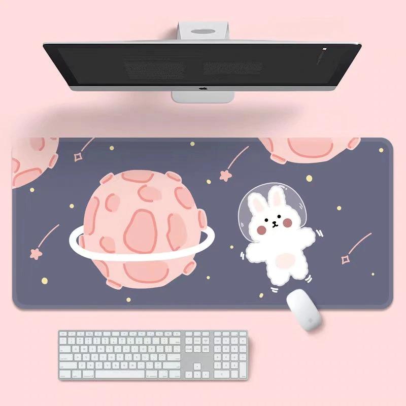 Kawaii Space Bunny Mouse Pad