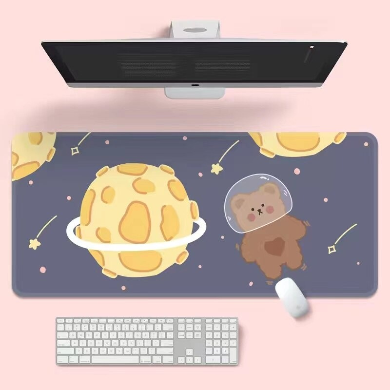 Kawaii Space Bear Mouse Pad