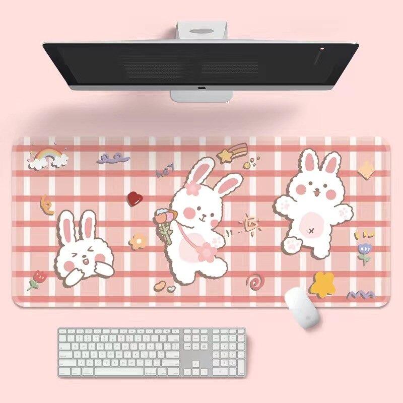 Kawaii Dance Bunny Mouse Pad