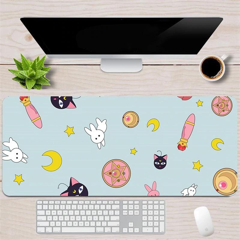 Kawaii Sailor Cat & Bunny Mouse Pad