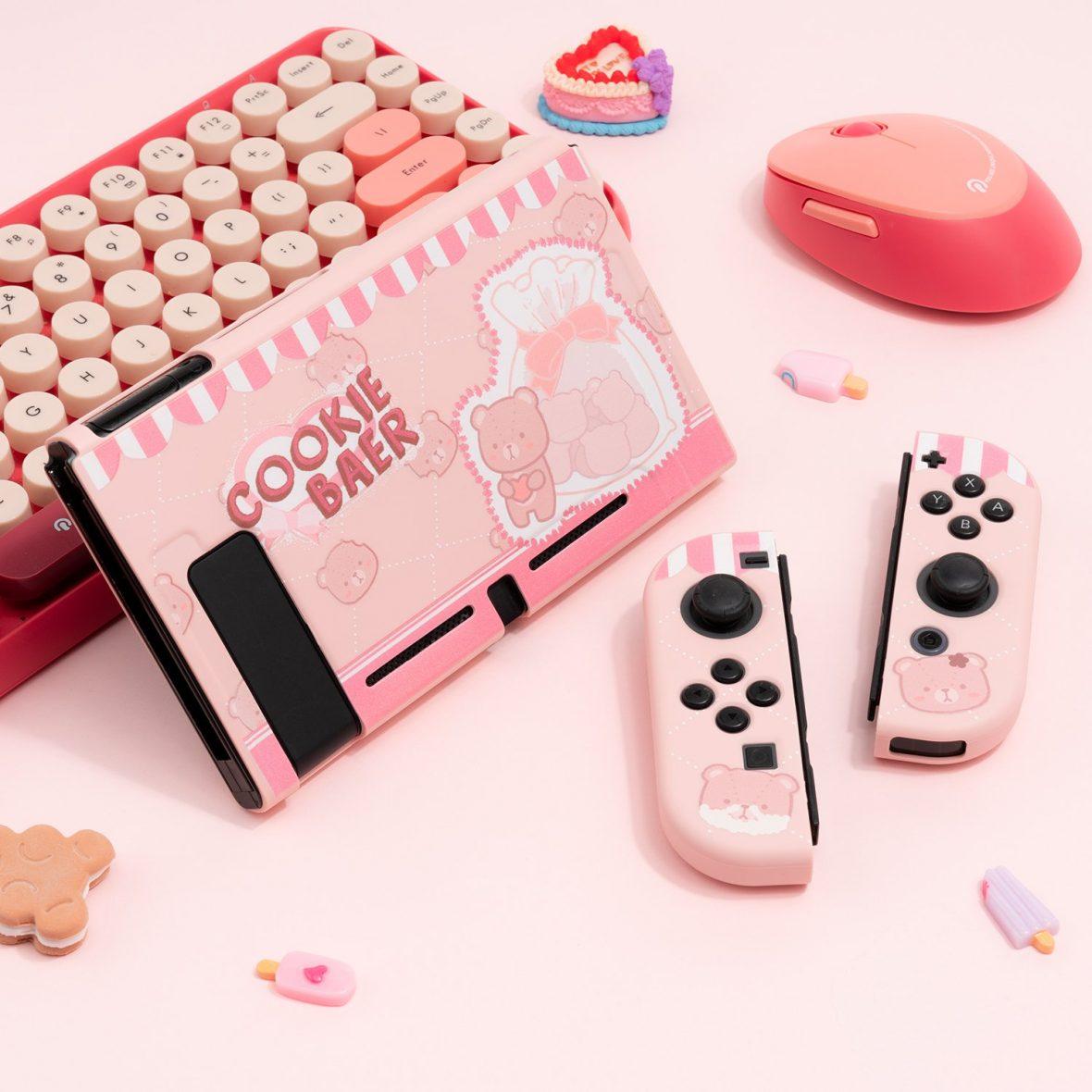 Kawaii Cookie Bear Nintendo Switch Case