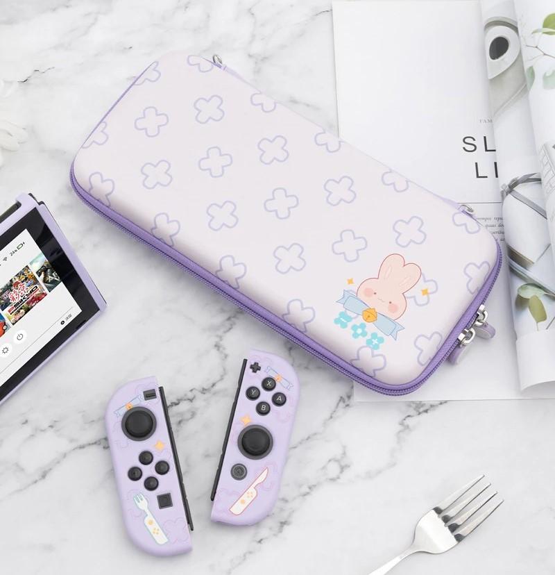 Kawaii Hungry Bunny Nintendo Switch Carrying Case Bundle