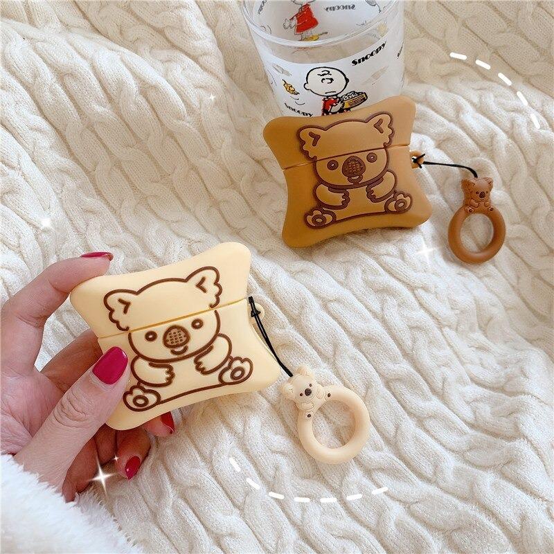 Kawaii Koala Bear Cookie AirPods Case