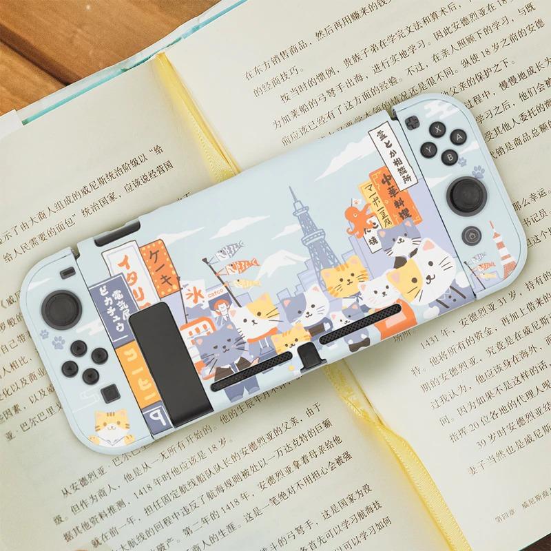 Kawaii Osaka Cats Nintendo Switch Case