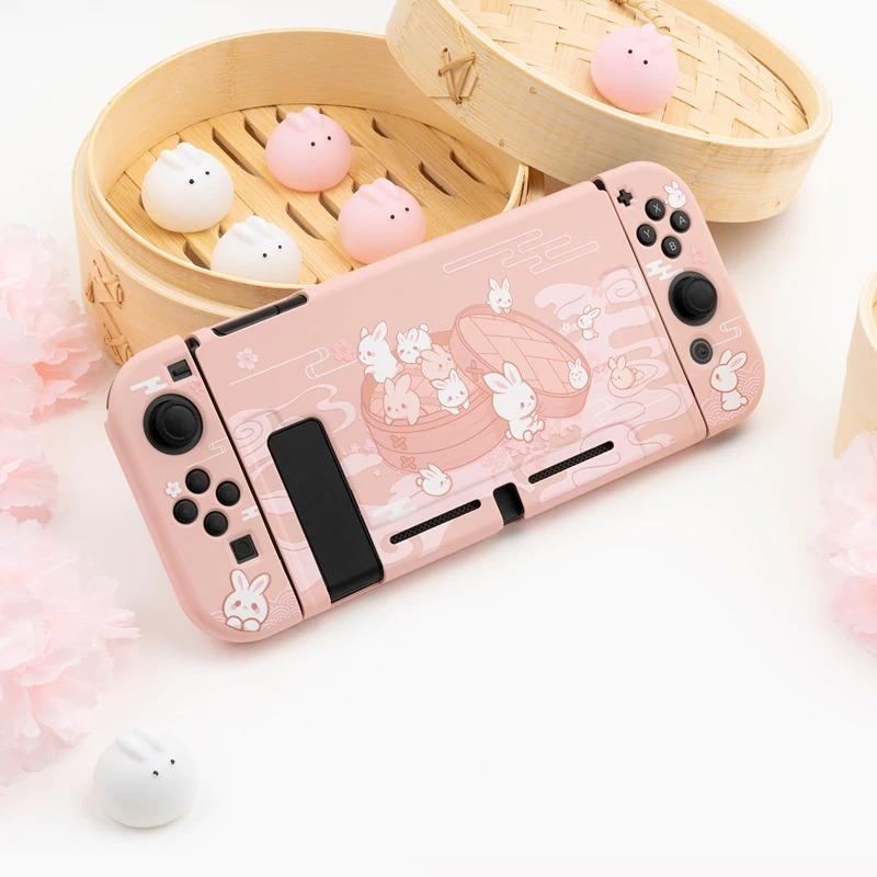 Kawaii Dumpling Bunny Nintendo Switch Case