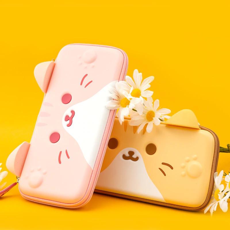 Kawaii Cat Ears Nintendo Switch Carrying Case
