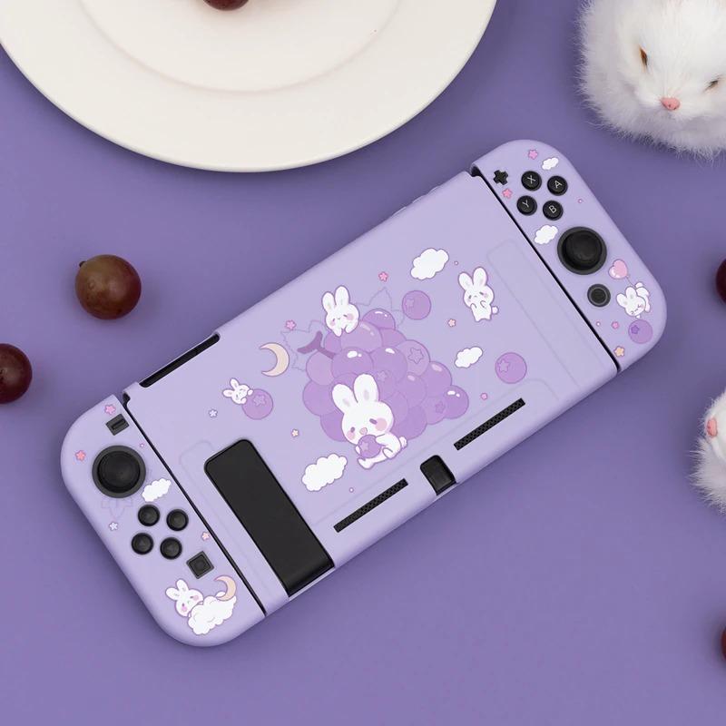 Kawaii Grape Bunny Nintendo Switch Case