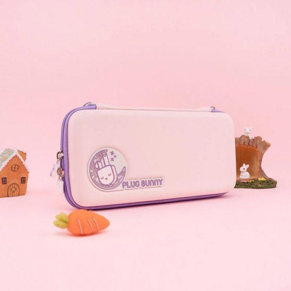 kawaii-plug-bunny-nintendo-switch-lite-carrying-case