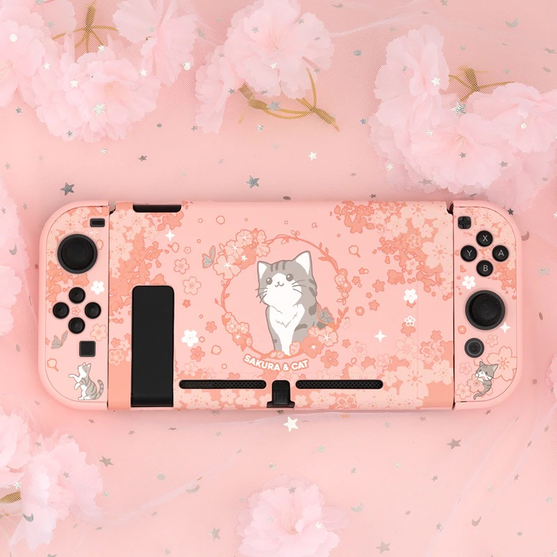 Kawaii Sakura Cat Nintendo Switch Case