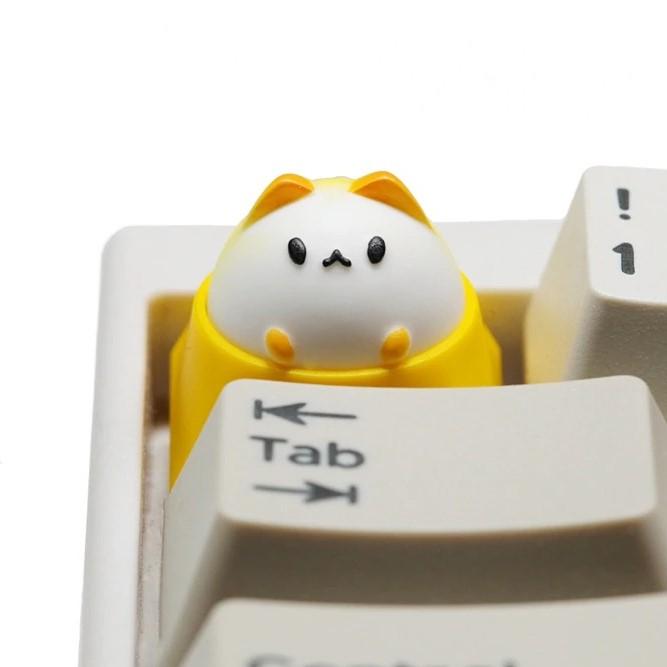 Kawaii Bubble Cat Resin Keycap