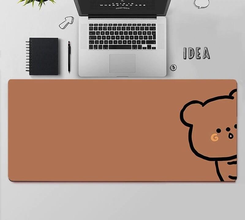 Kawaii Brown Bear Mouse Pad
