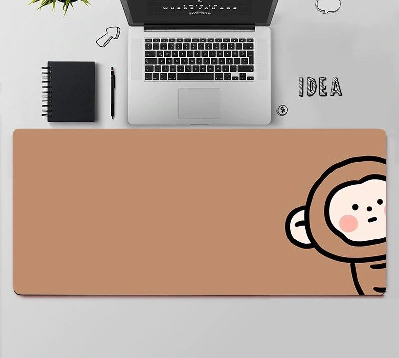 Kawaii Monkey Mouse Pad