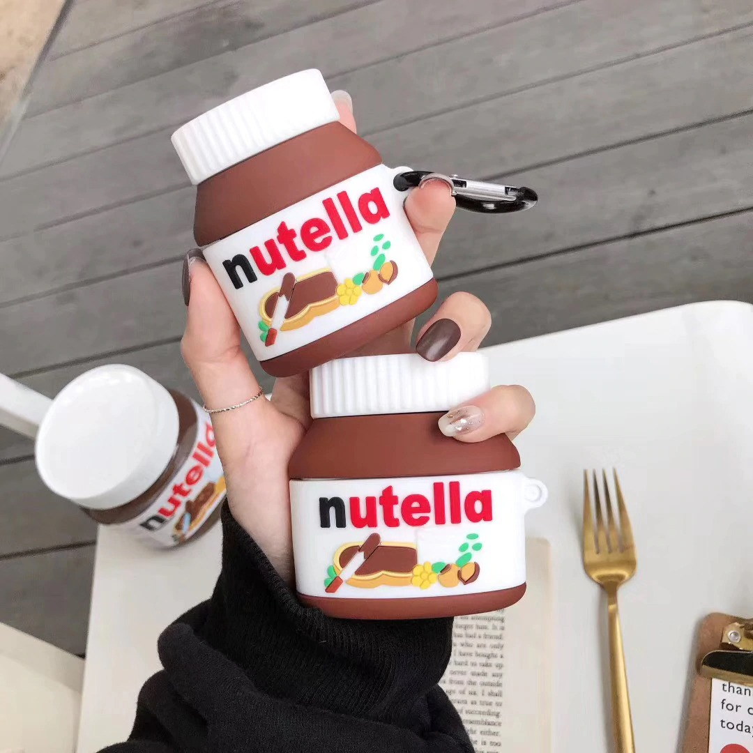 Kawaii Nutella AirPods Case