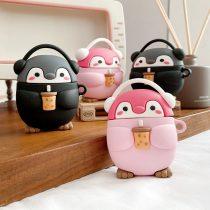 kawaii-boba-penguin-airpods-case