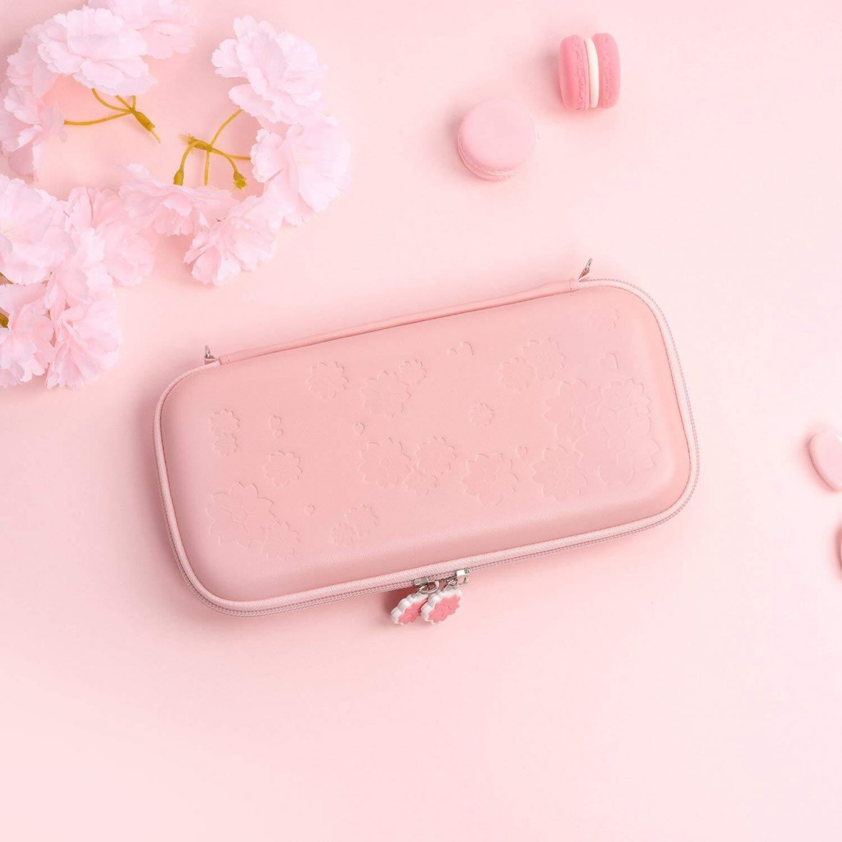 Kawaii Pink Sakura Nintendo Switch & Switch Lite Carrying Case