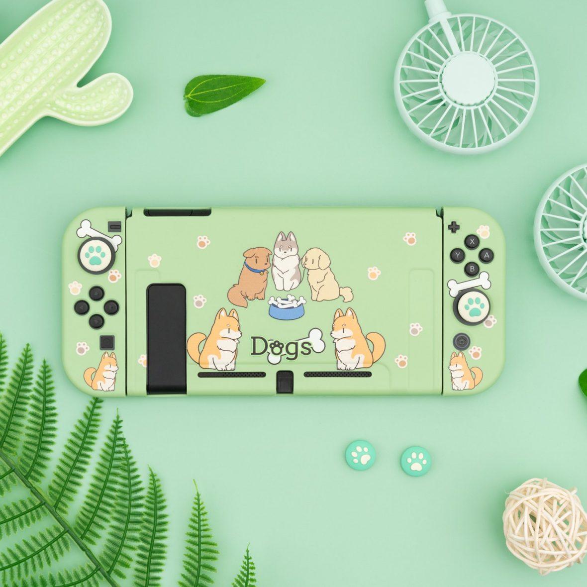 Kawaii Bone Dogs Nintendo Switch Case