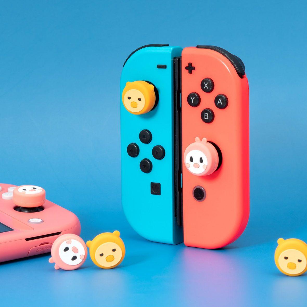 Kawaii Bunny & Duck Nintendo Switch Thumb Grips