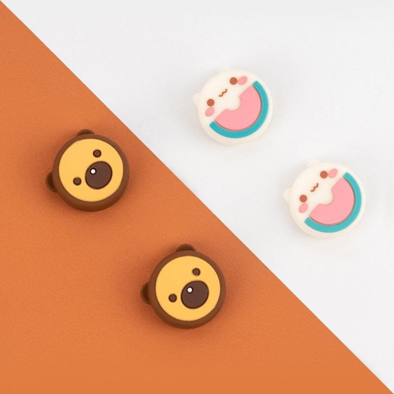 Kawaii Watermelon Cat & Bear Nintendo Switch Thumb Grips