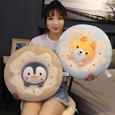 Kawaii Donut Animal Seat Cushion