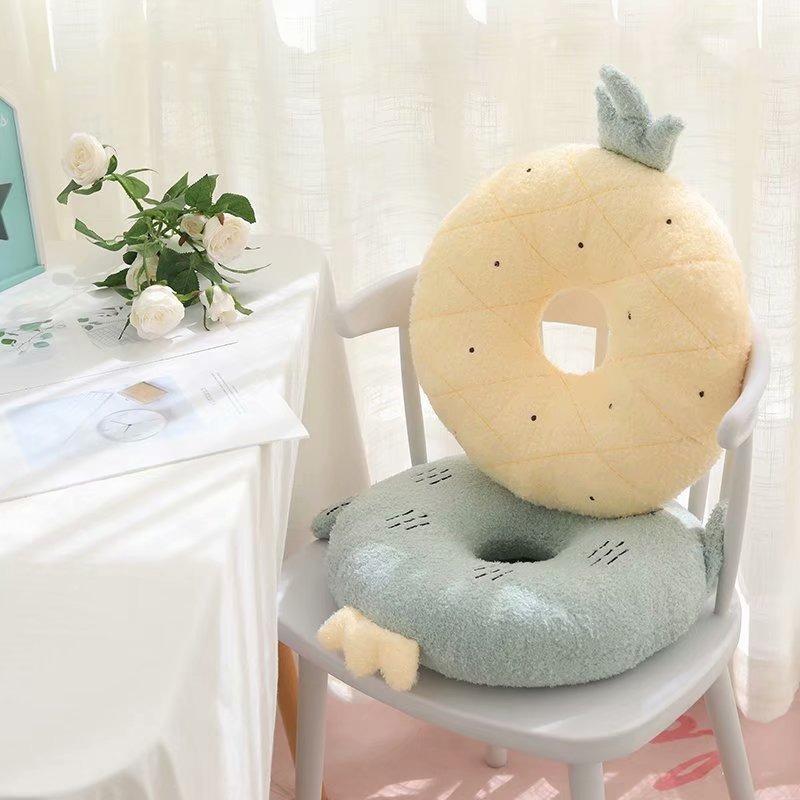 Kawaii Fruit & Animal Donut Seat Cushion