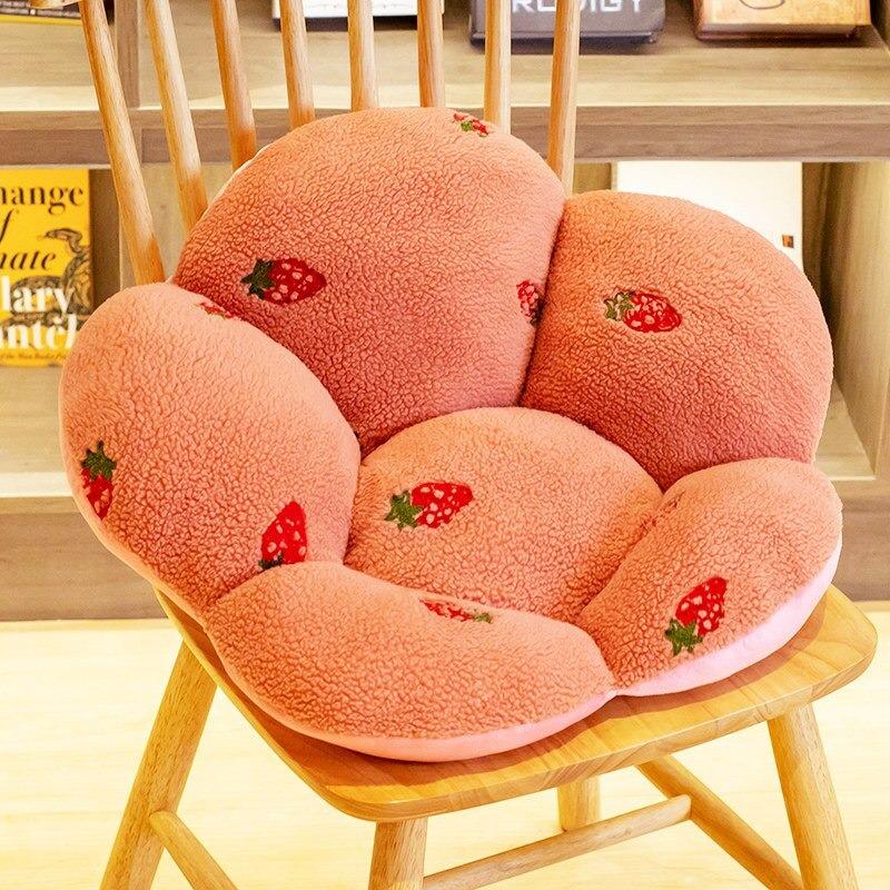 Kawaii Fruity Plush Seat Cushion