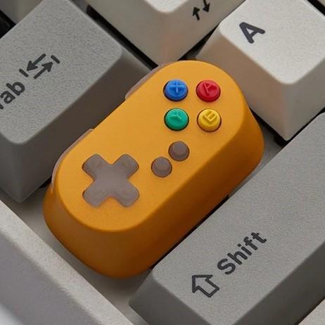 kawaii-game-controller-keycap-yellow