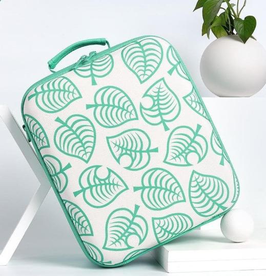 Kawaii Green Leaf Nintendo Switch Carrying Travel Case