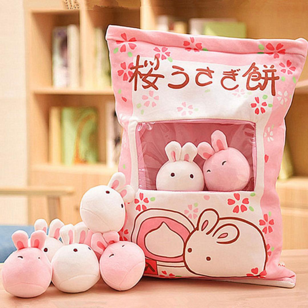 Kawaii Japanese Bag of Bunnies Plush (48cm)