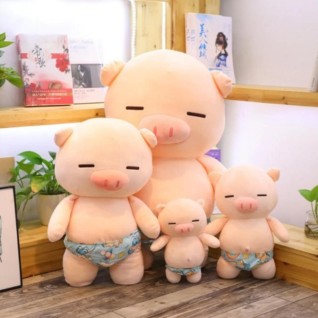 Kawaii Naked Piggy Plush