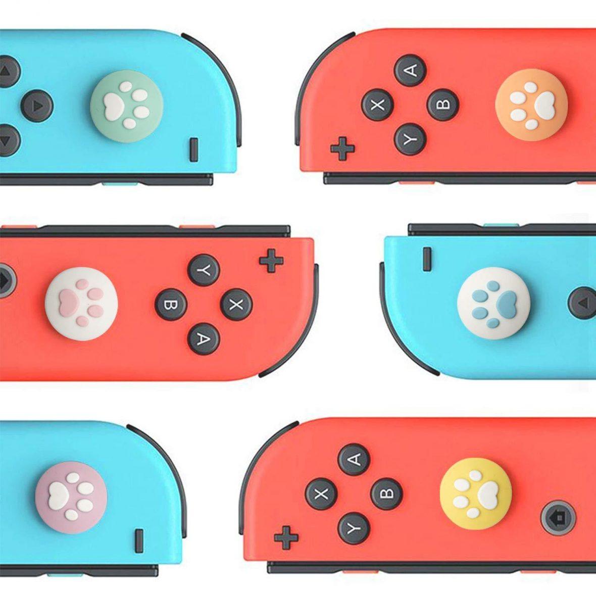 Kawaii Paw Nintendo Switch Thumb Grips