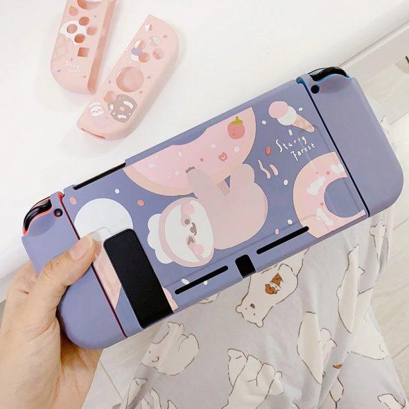 kawaii-donut-sloth-nintendo-switch-case