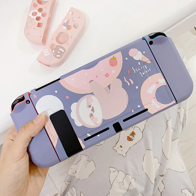 Kawaii Donut Sloth Nintendo Switch Case
