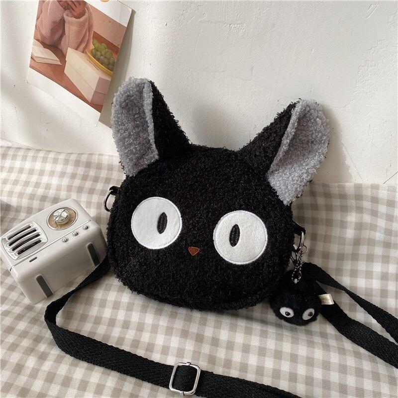 Kawaii Black Cat Crossbody Bag