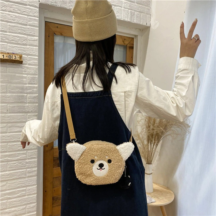 Kawaii Brown Bear Crossbody Bag